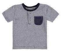 T-Shirt 1/4 Armlänge mit Ringeln blau / weiß