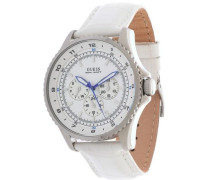 Armbanduhr blau / silber / weiß