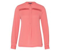 Bluse mit Falteneinsatz pink