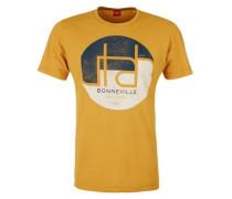 T-Shirt mit Print und Wording blau / gelb / weiß