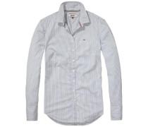 Bluse 'thdw Basic Stripe Stretch Shirt L/S 2' blau / weiß