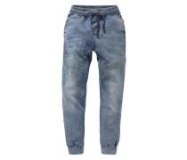 Sweatjeans Slim für Jungen blau