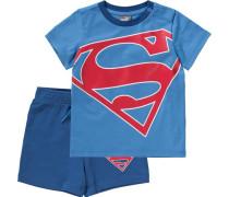 Superman Set T-Shirt + Shorts blau