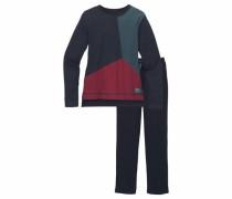 Pyjama lang für Jungen nachtblau / dunkelrot