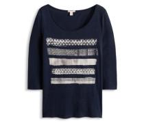 Shirt mit Ethno-Print blau