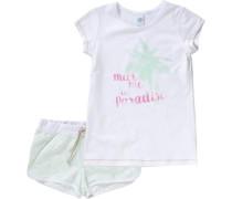 Schlafanzug mint / pink / weiß