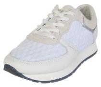 Sneaker 'Linda' mit schönem Mesh-Lochmuster beige / weiß