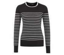 Sehr weicher Pullover schwarz / weiß