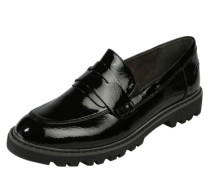 Loafer in Lack-Optik schwarz