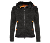 Sweatjacke 'Storm Double Ziphood' schwarz