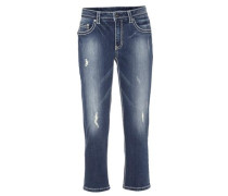 Capri-Jeans blau