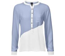 Blusenshirt hellblau / weiß