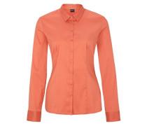 Taillierte Hemdbluse orange