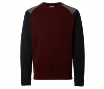 Crew-Neck-Sweatshirt blau / rot