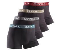 Boxer unifarbene Retro Pants schwarz