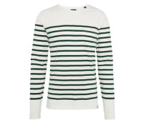 Langarmshirt 'classic long sleeve breton with engineered stripe' anthrazit / weiß