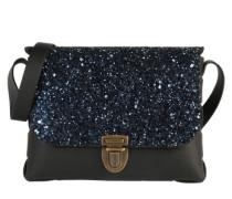 Clutch 'Glitter' blau / schwarz
