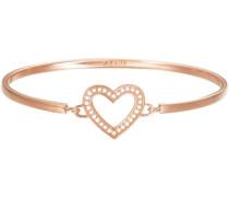 Armreif mit Strasssteinen »Herz -Jw50225 Rose Esba01299C600« gold