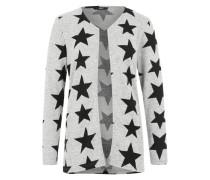 Cardigan 'Onlelcos' im All-Over-Muster hellgrau / graumeliert / schwarz