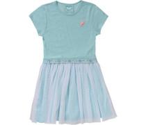 Kinder Jerseykleid mit Tüllrock türkis / grün / mint