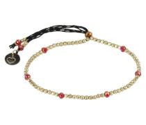 Armband 'Capri' gold / rot