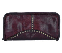 Portafoglio Geldbörse Leder 21 cm rotviolett