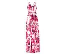 Langes Cocktailkleid aus fließendem Chiffon pink