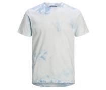 Batik T-Shirt hellblau / weiß