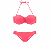Bügel-Bandeau-Bikini pink