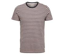 Rundhalsausschnitt-T-Shirt mokka