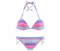 Triangel-Bikini türkis / pink