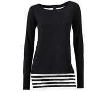 2-in-1-Pullover schwarz