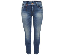 Skinny Fit Jeans Carmen Reg Crop blue denim