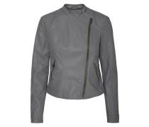 Jacke aus Lederimitat grau
