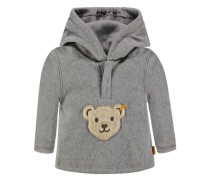 Fleece-Sweatshirt grau