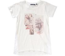 T-Shirt für Mädchen rosa / weiß / naturweiß / weißmeliert