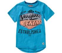 Baby T-Shirt für Jungen hellblau / dunkelgrau / pastellorange