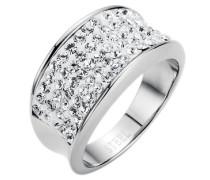 """Ring """"white glamour"""" mit Kristallsteinen"""