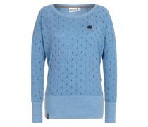 Pullover 'Hodenschmerzen II' blau