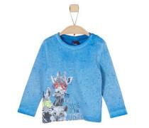 Baby Langarmshirt für Jungen himmelblau