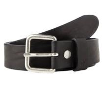 Gürtel '3cm vintage leather' schwarz