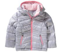 Winterjacke für Mädchen rosa / silber