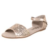 Sandale mit Lochmuster rosé
