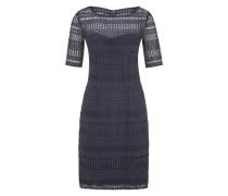 Kleid aus Baumwollspitze grau