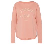 Sweater 'j'adore' pfirsich