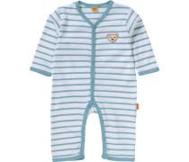 Baby Schlafanzug für Jungen blau / weiß