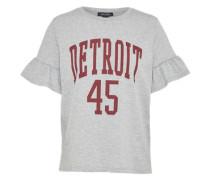 Jerseyshirt 'detroit' grau / weinrot
