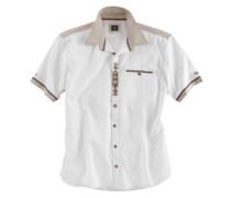 Trachtenhemd in Leinenoptik creme / elfenbein