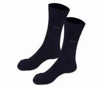 Socken (2 Paar) mit druckfreien Nähten marine