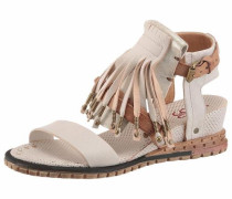 Sandalette hellbeige / naturweiß